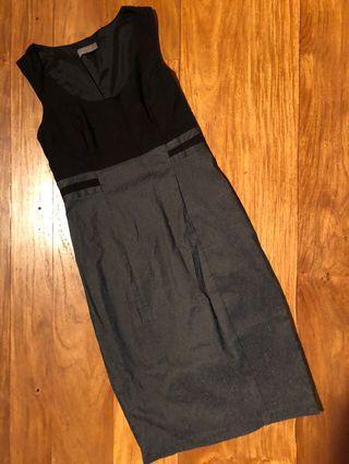 Jacqui E Black Corporate Dress