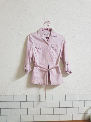🚚 百貨專櫃品lace粉色上衣