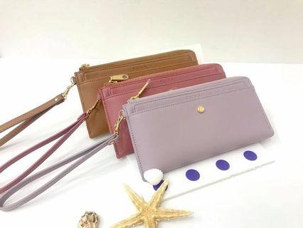 Authentic Taiwan S'aime Raven Genuine Leather Long Wallet