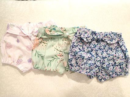 🚚 *3-6 M* Baby bloomer shorts/ nappie cover