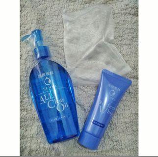 #BAPAU paket double cleansing senka FREE foam net (all clear oil + perfect whip)