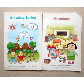 小朋友書 英文書 Amazing Spring + My School 每本約8頁 幼兒 幼稚園 英文適合