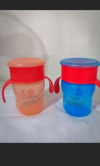 RED Philips Avent training cup