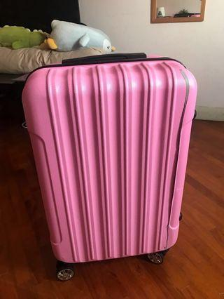 Pink 24 inch luggage bag with DEFECT
