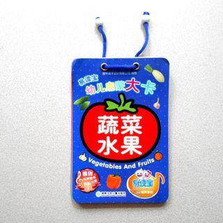 小朋友書 幼兒學習咭 幼兒啟蒙大卡 蔬菜水果 Vegetables and Fruits 約48頁 中英對照 簡體字