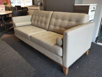 Genuine leather 3 seater
