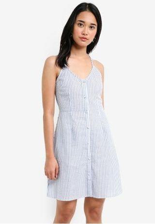🆓Something Borrowed Cross Back Button Down Cami Dress