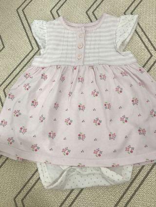 Mothercare 0-3M babygirl romper dress