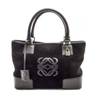 LOEWE handbag. Black. Suede Bag. Model: RP-5151-C.