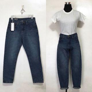 Brand New High Waist Dark Denim Jeans Pants