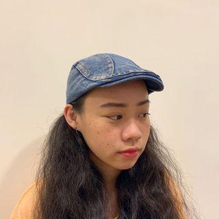 古著 牛仔鴨舌帽 小偷帽 / Vintage Denim Cap
