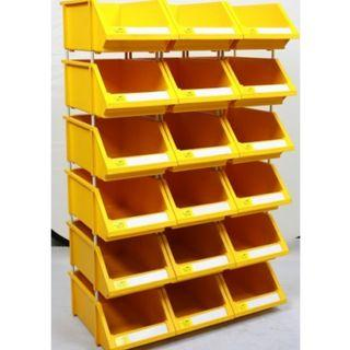 Tote tool stackable box bin