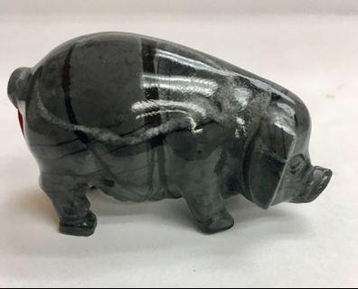 """天然2""""豬形石雕刻擺設一件 #MTRtst"""
