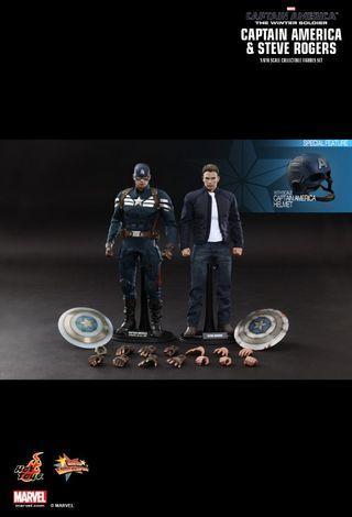 Hot Toys Captain America and Steve Rogers Winter Soldier Avengers Endgame