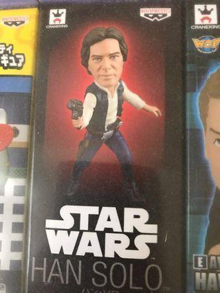 全新star war 日版景品全新未開封聖戰盒蛋Figure Han Solo
