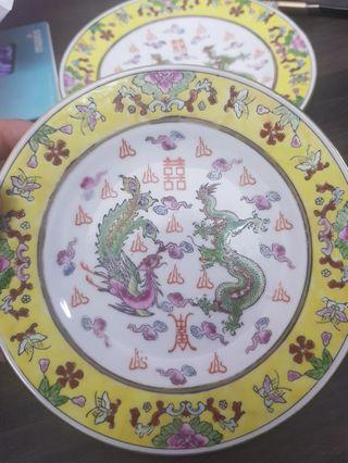 Double happiness plate