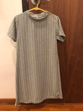 🚚 basic vertical stripes dress