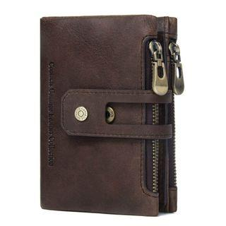 Dompet Kulit Genuine CONTACTS Brown