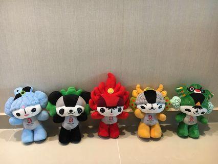 Beijing Olympics 2008 FUWA Soft Toys (FULL SET)