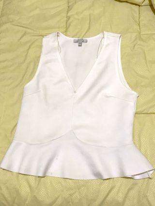 Zara white tank ruffle tanktop putih atasan wanita