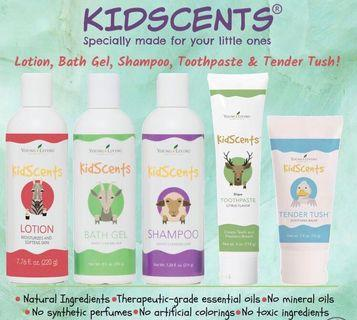 Young living Kidscents shampoo bathgel toothpaste