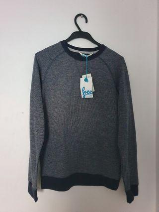 Grey crew fleece sweater