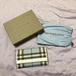 [BURBERRY] Baby Blue Checkered Signature Wallet