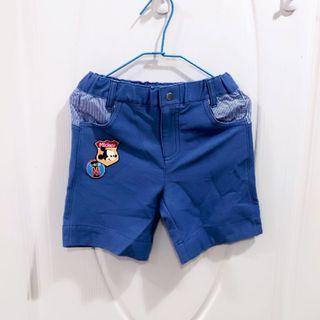 (全新)麗嬰房 迪士尼 米奇短褲 棉質 短褲 鬆緊褲