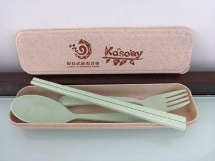 Wheat straw tableware set環保小麥餐具套裝