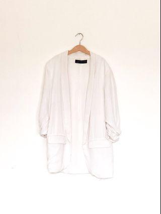 Zara white outer blazer