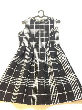 Black White Checker dress #BAPAU