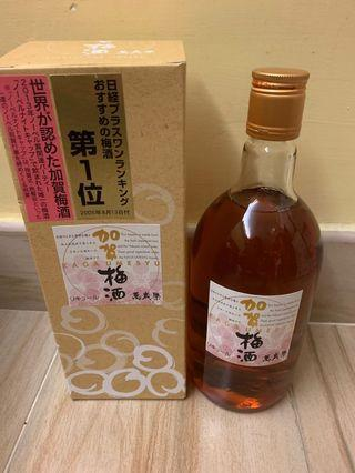 日本 萬歲樂 加賀梅酒 720ml