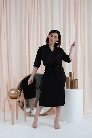 Amygo x Malvava Spencer Dress Black