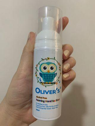 Oliver's 無酒精免洗泡沫洗手液(輕便裝)-50ml