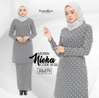 Kurung Moden Cotton by Karabum