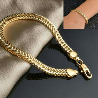 18K Gold Plated Fashion Chain Bracelet #07