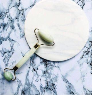 🚚 Aventurine Jade Dual-Ended Derma Roller (東陵玉雙頭臉頰按摩棒)