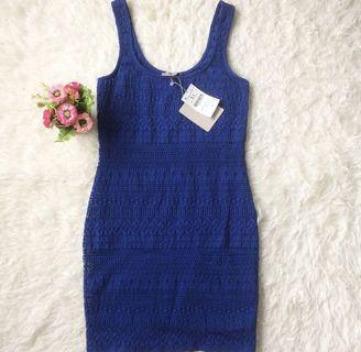 bershka blue dress
