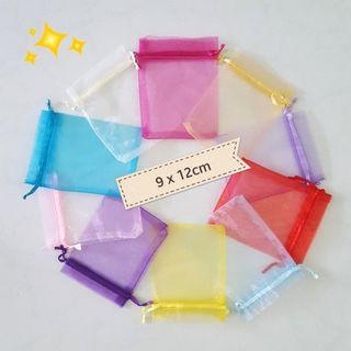 Organza 9x12 Bags / Pouch in Assorted colours