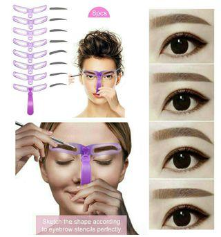 Hot Selling💥8 Styles Eyebrow Stencil Eyebrow Shapes DIY Grooming Stencil Kit
