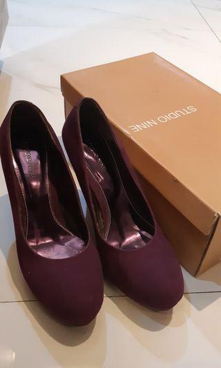 Suede Purple Shoes