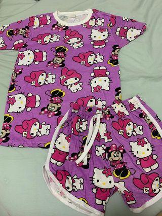 🚚 《kids set 》Melody Minnie Kitty (  purple )