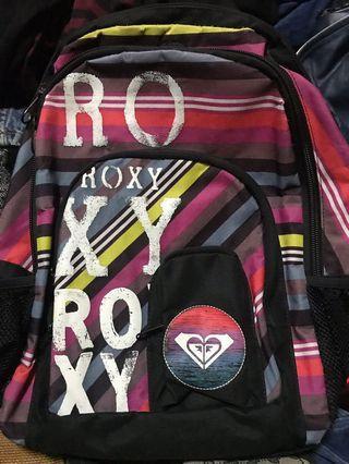 🚚 ROXY後背包,經典條紋彩色後背包,46*29*11公分