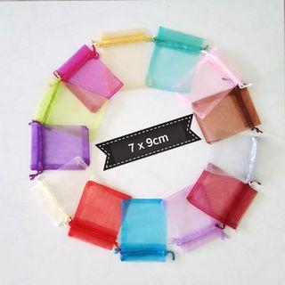 Organza 7*9 Bags / Pouch (Many colours available)