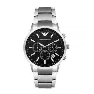 NEW Emporio Armani Men's AR0585 Sportivo Bracelet Watch (Silver/Black)