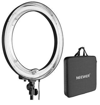 "(E1997) Neewer Camera Photo/Video 18""Outer 14""Inner 600W 5500K Ring Fluorescent Flash Light for Photography YouTube Self-Portrait Video Shooting (Light Only)"