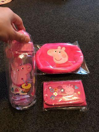 Super Peppa Pig bundle -Wallet/bottle/handbag
