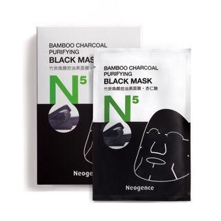 台灣品牌 Neogence N5竹炭煥顏控油黑面膜