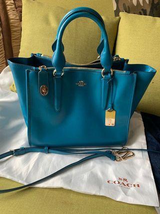 Coach Crosby Leather Carryall Handbag