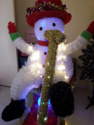 Snowman decoration with led light
